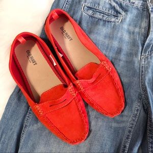 Old Navy • Orange Faux Suede Loafers